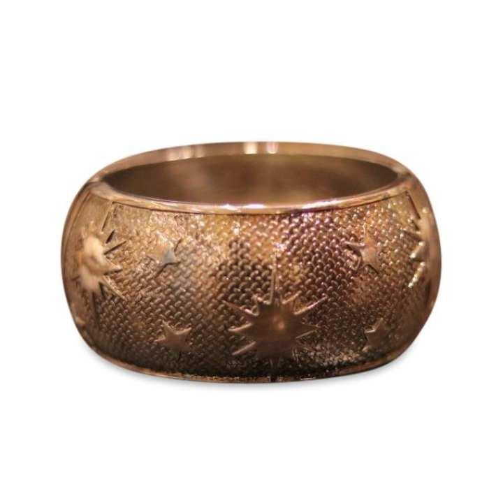 Golden Plastic and Metal Bracelet For Women