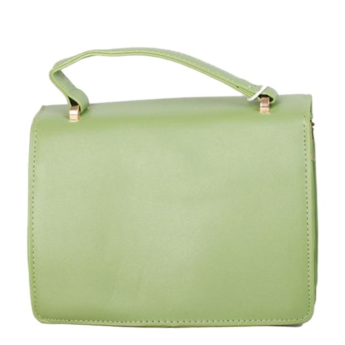 Olive PU Leather Hand Bag For Women