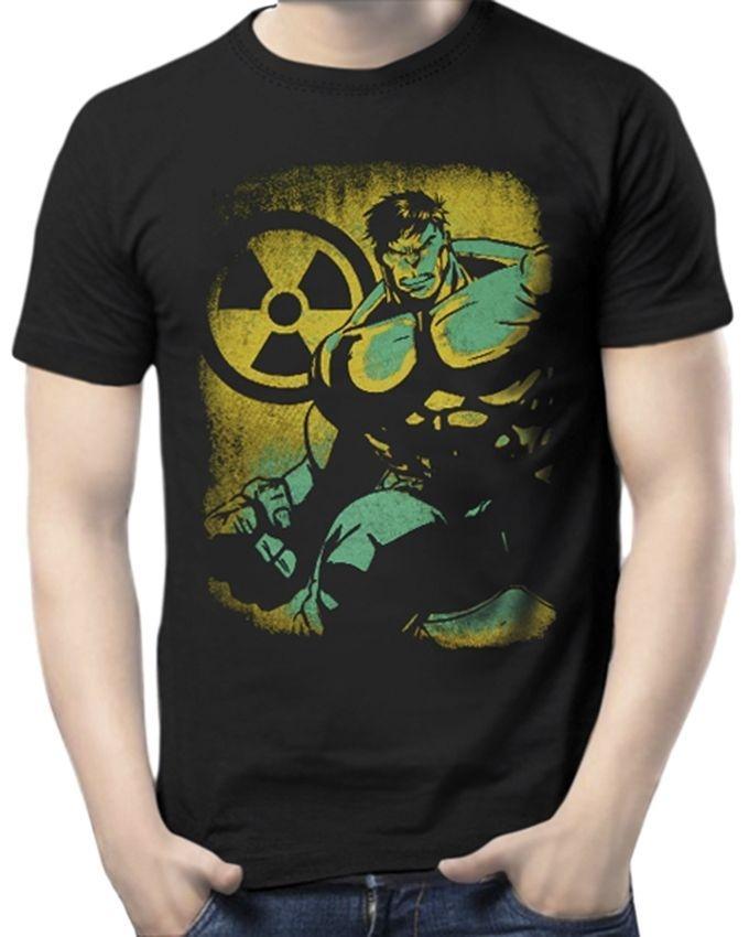 Cotton Short Sleeve Incredible Hulk T-shirt - Black