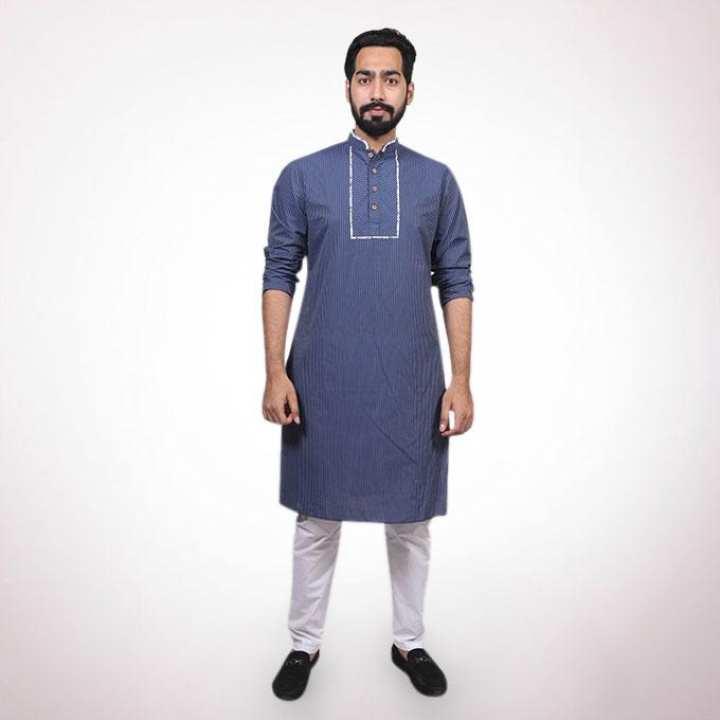 Navy Cotton Panjabi for Men