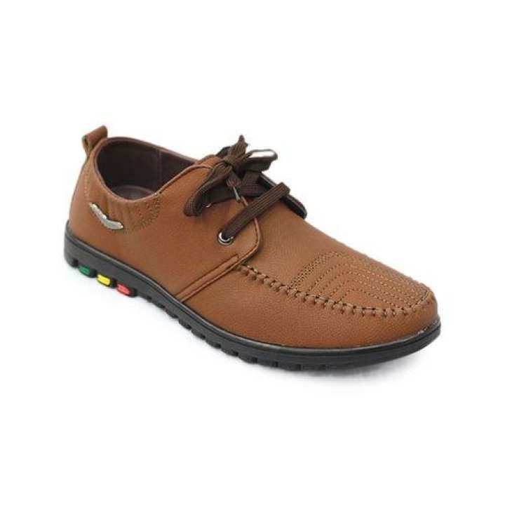 Men's PU Boat Shoe - Brown
