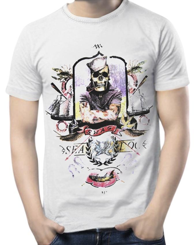 Cotton Short Sleeve Sailor Forever T-shirt - White