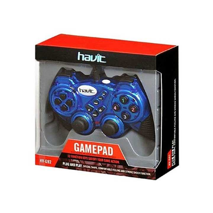 HV-G92 Wired 3D Gamepad - Blue