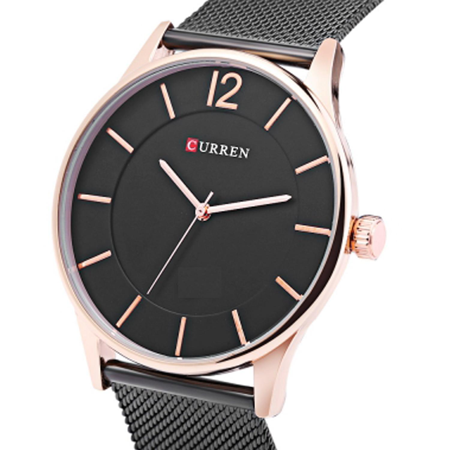 Stainless Steel Analog Watch for Men – Black