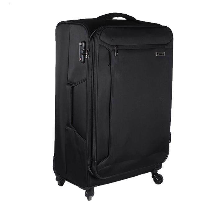Black Polyester Trolley Bag For Men