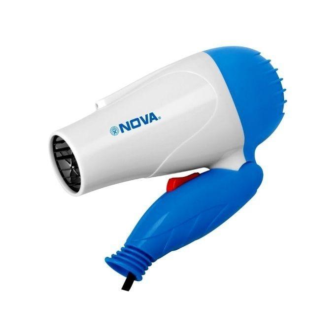 NV-1273 Foldable Hair Dryer – White and Light Blue