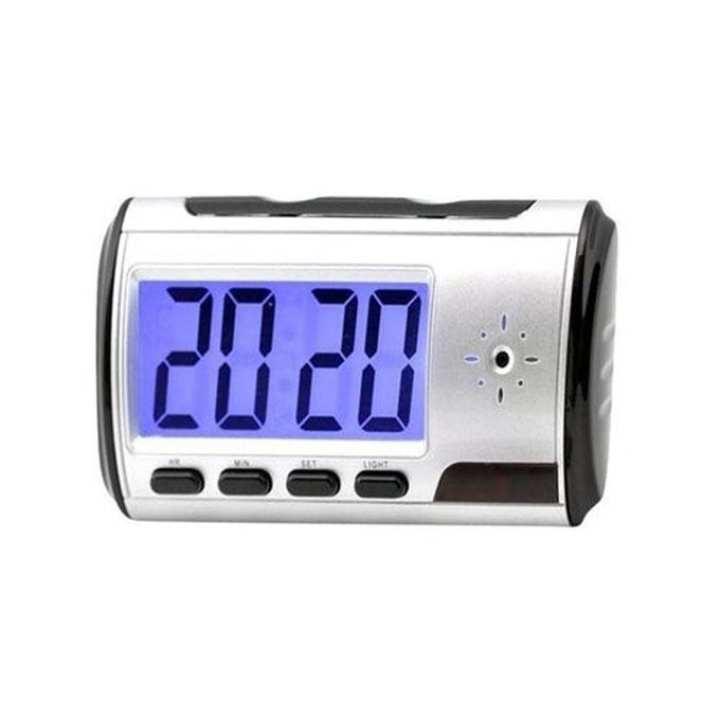 Asian Sky Shop Spy Table Clock Video Camera - Silver