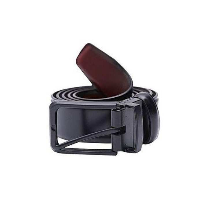 Black Leather Belt Casual for Man