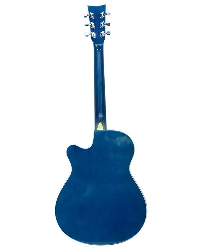 Deep Blue Acoustic Guitar
