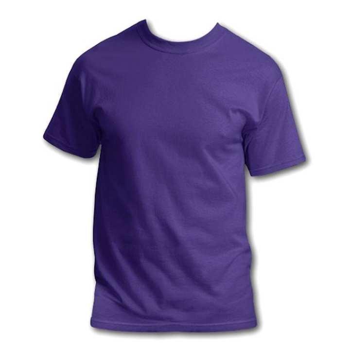 Purple Cotton T-shirt for Men