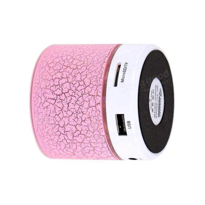 Mini Portable Wireless Bluetooth Speaker - Pink and White