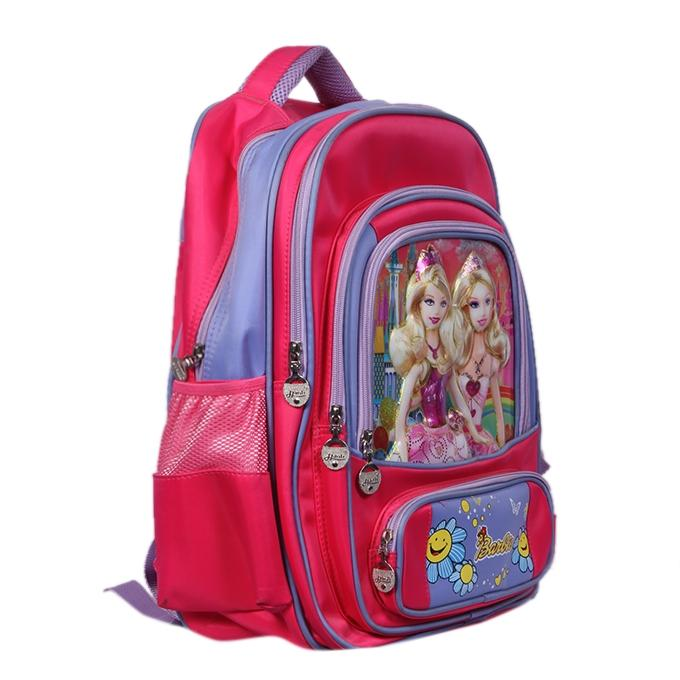 Pink Polyester Backpack For Girls