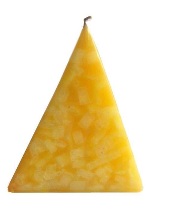 Yellow Mosaic Pyramid Candle