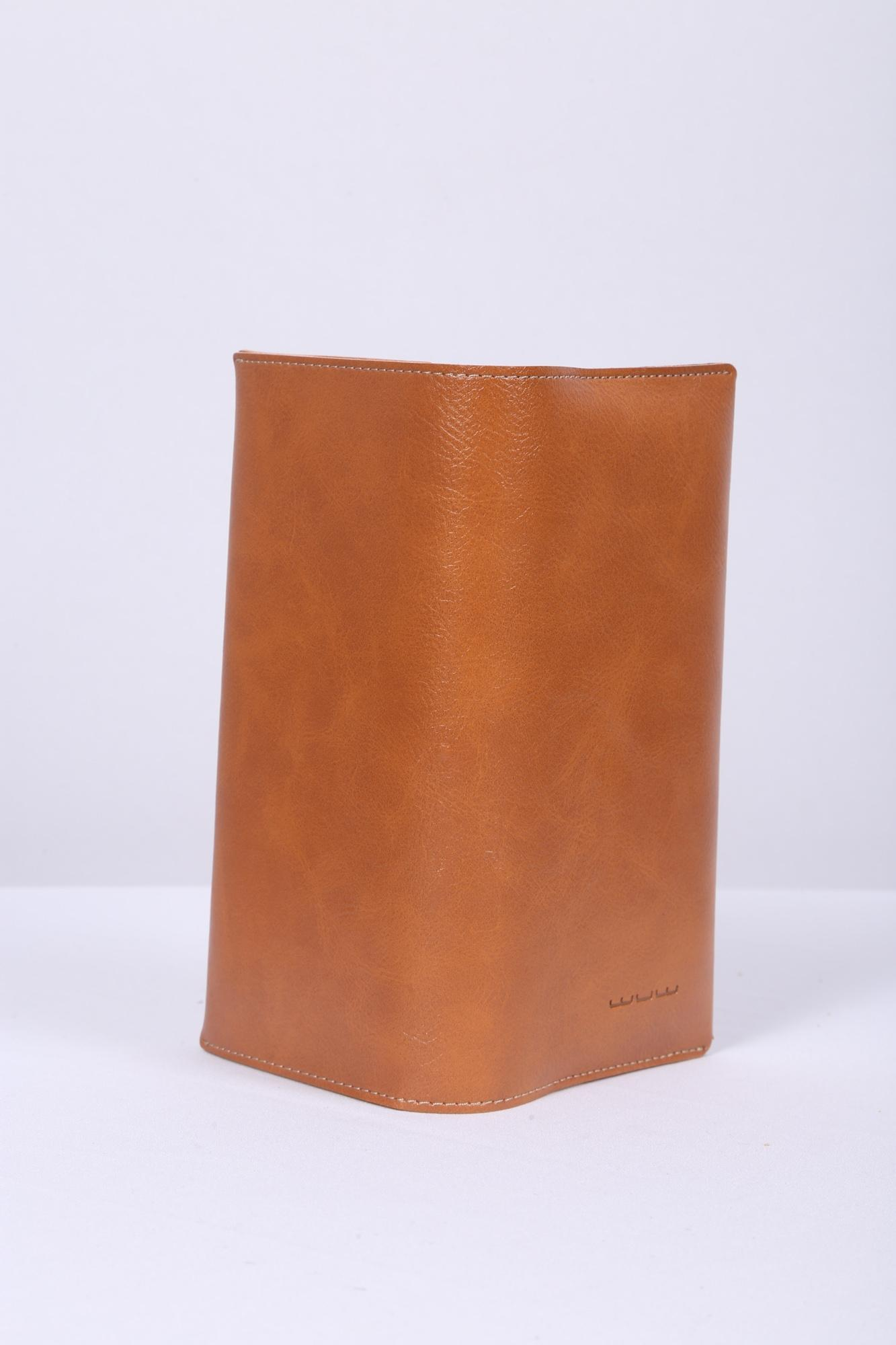 WUW Artificial Leather Mobile Pouch - Brown