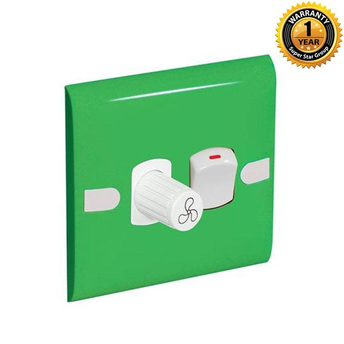 Color Slim Series Color Slim Fan Regulator With Switch - Lime