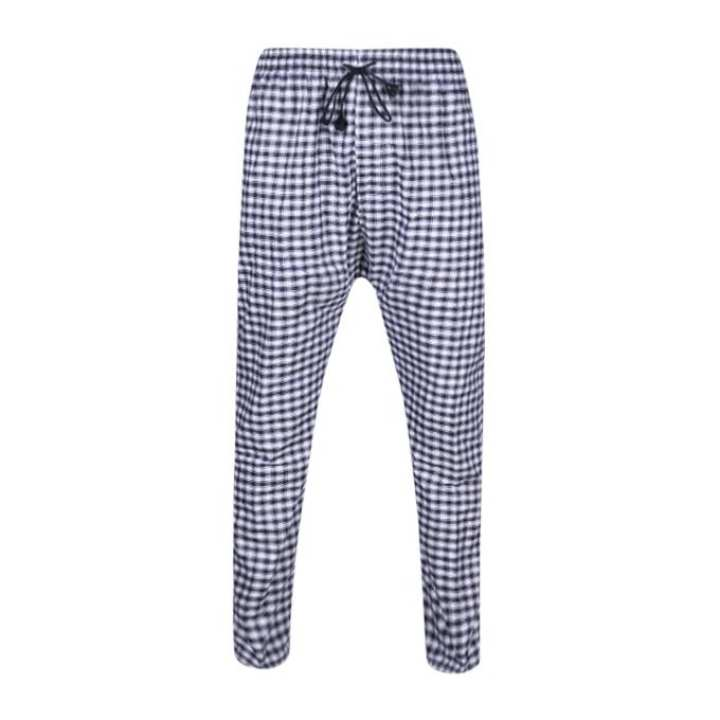 Grey and White Cotton Trouser For Men