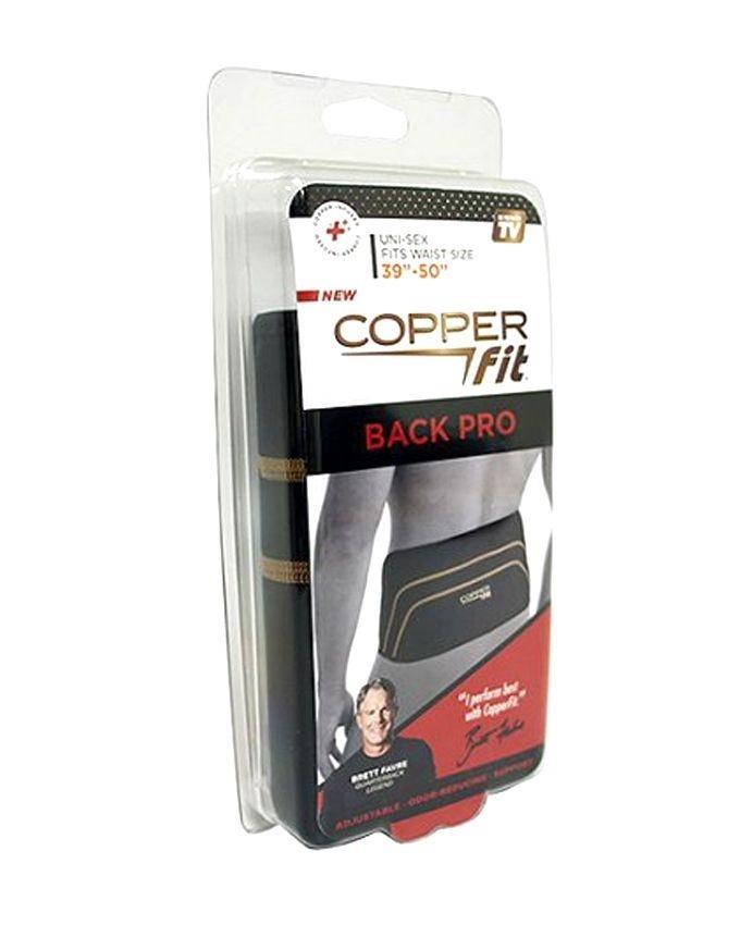 Copper Fit Back Pro Adjustable Compression Straps for Men & Women - Black