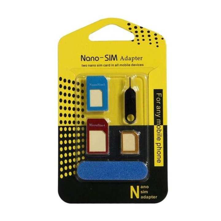 Aluminum Metal Nano SIM Card to Micro SIM Card Standard Adapter Converter