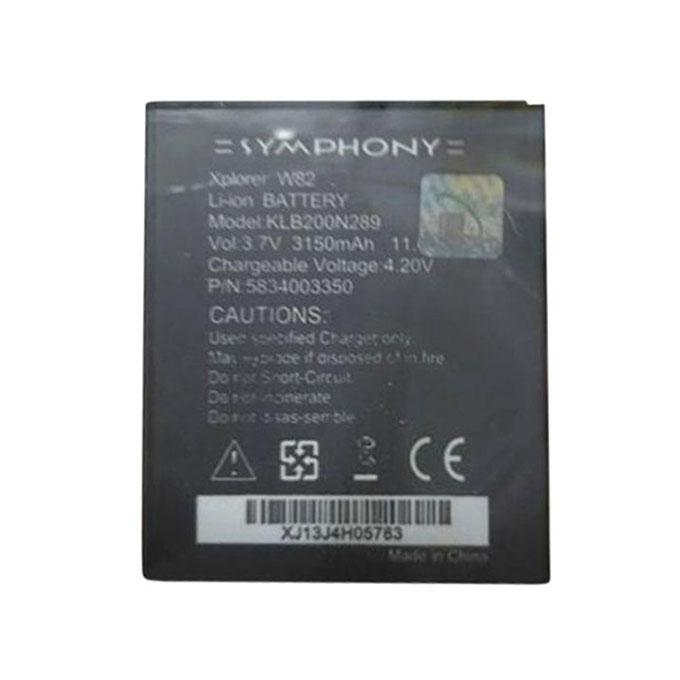 3150mAh Replacement Battery For Symphony W82 - Black
