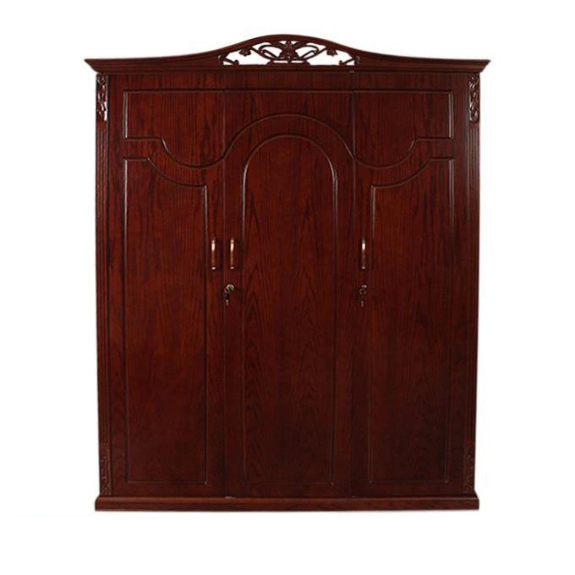 P200 360 oak wood and oak veneer 3 doors magnolia almirah brown buy online at best prices in bangladesh daraz com bd