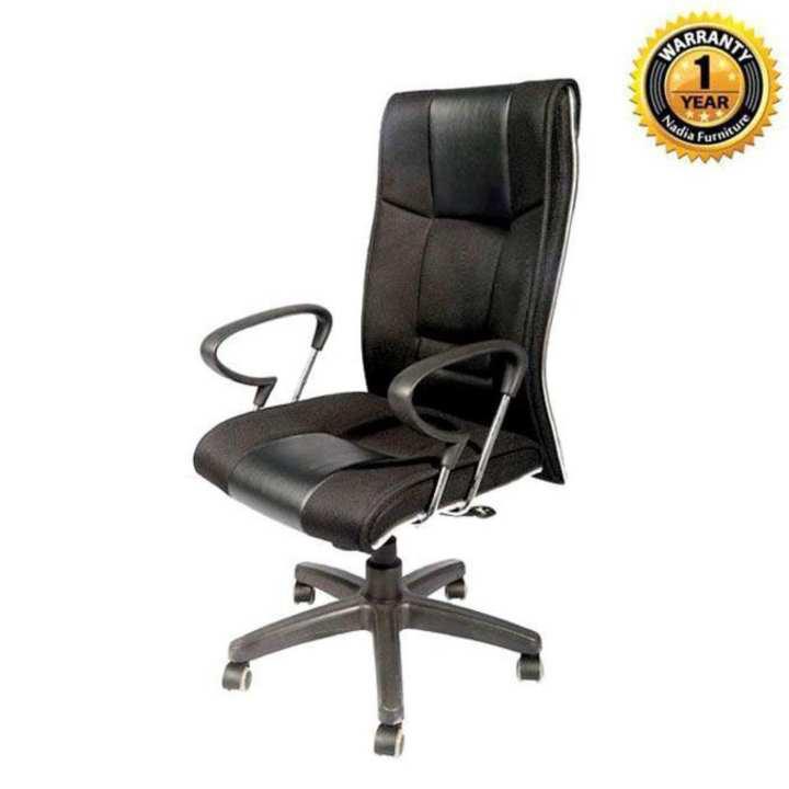 NFL-OCSW-P015-FR Swivel Chair-Pe base  - Black