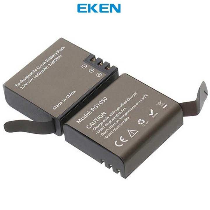 EKEN Action Camera Rechargeable Battery (PG1050, 1050mAh, 3.7V)