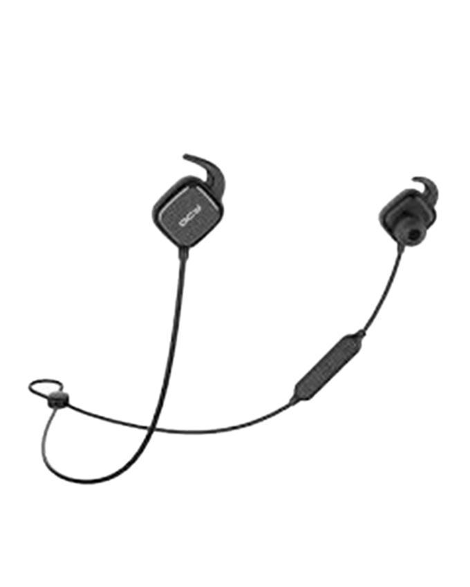 QY12 Bluetooth In-Ear Stereo Wireless Earphones - Black