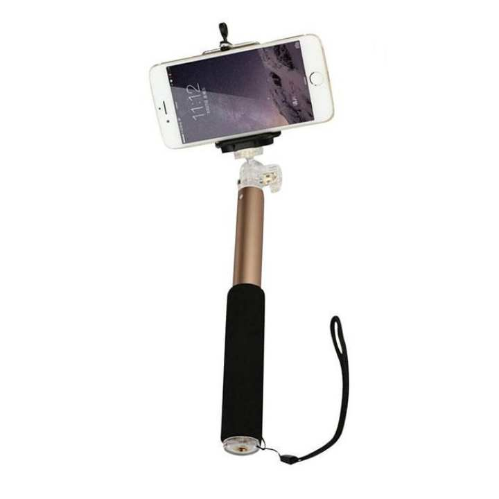 P5 Monopod Selfie Stick - Black and Gold Rose
