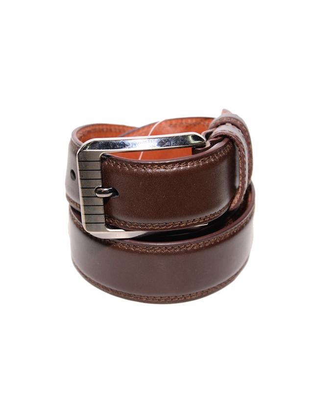Leather Formal Belt For Men - Brown