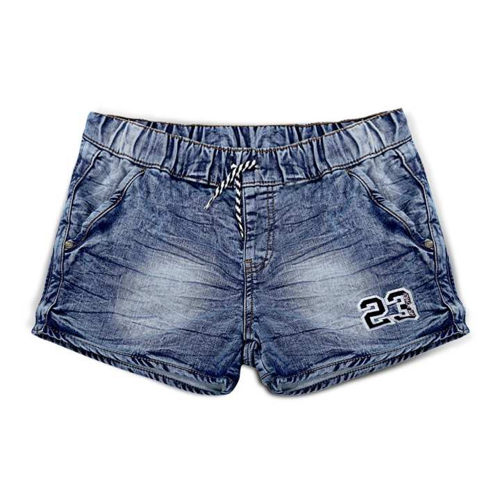 Navy Blue Denim Spandex Sexy Shorts for Women