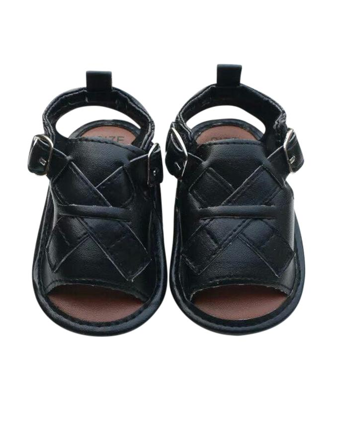 Black PU Leather Sandal For Baby