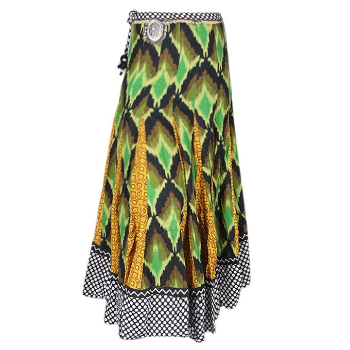 Multi Color Cotton Casual Skirt For Women