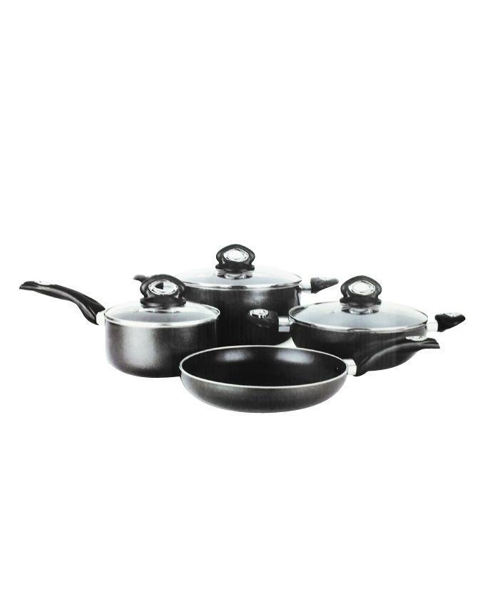 7 Pcs Non-Stick Cooking Set 24cm – Black