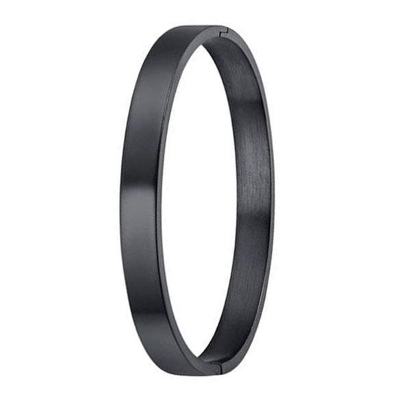 Black Stainless Steel lover Cuff Bracelet For Men