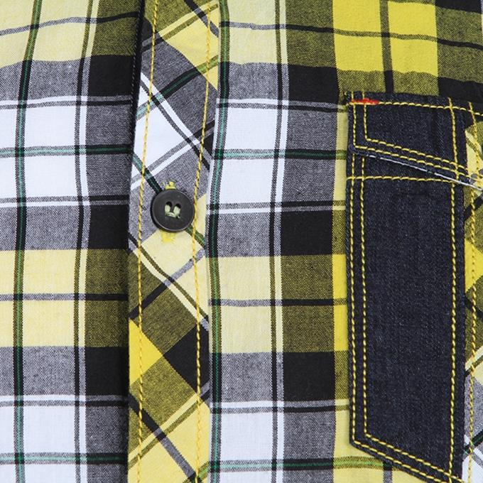 Black and Yellow Cotton Shirt For Men