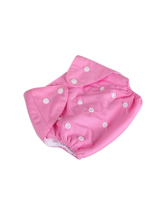 Pink Reusable Cloth Diaper For Babies