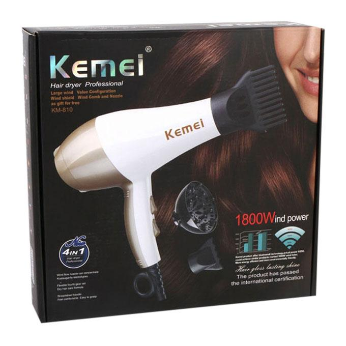 Kemei KM-810 Professional Hair Dryers-White and Gold