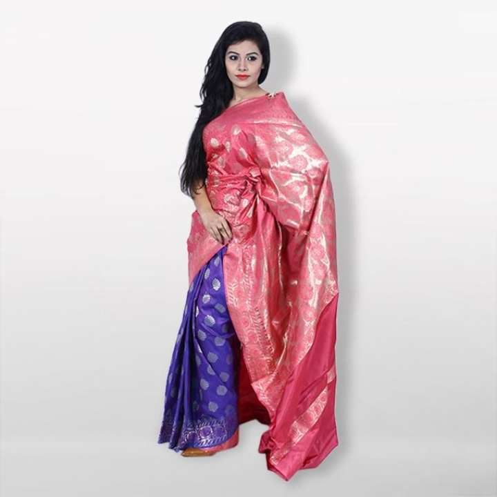 Multicolor Reshmi Silk Mirpur Pure Katan  For Women