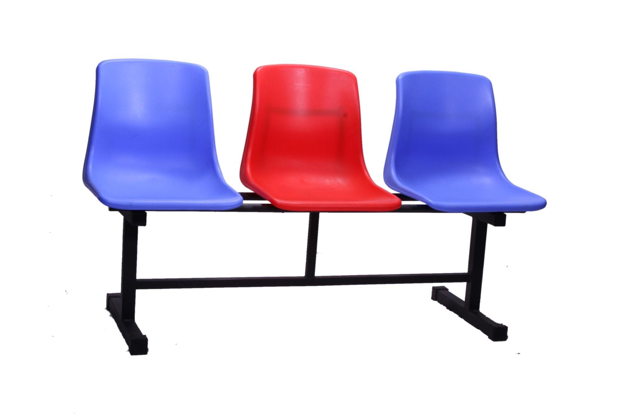 WAITING CHAIR SERIES-CH-03B Blue/Red