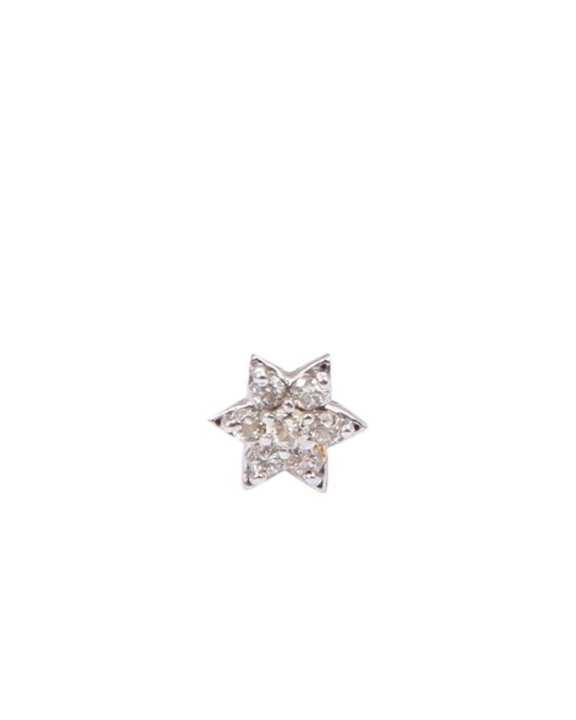 "Diamond Nosepin ""White 7 Stone Star """