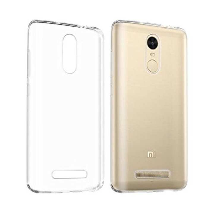 Clear Soft Silicone TPU Protector Back Case for Xiaomi Redmi Note 3 - Transparent