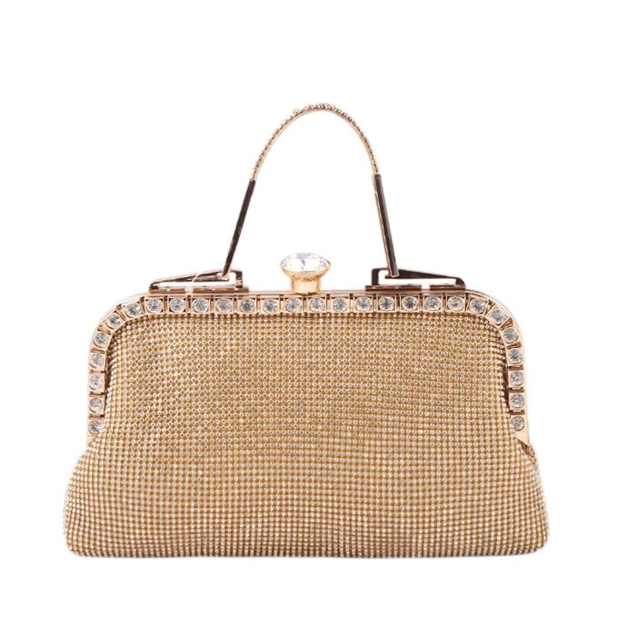 Golden Stone Clutch For Women