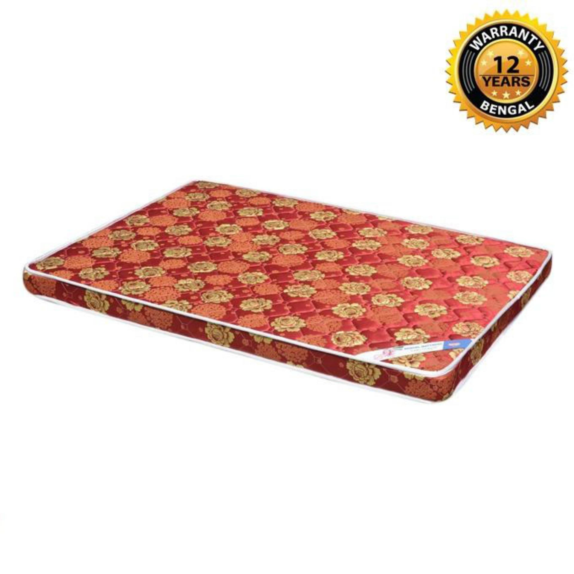 "Bengal Orthopedic Mattress (78""x66""x4"") - Multicolor"