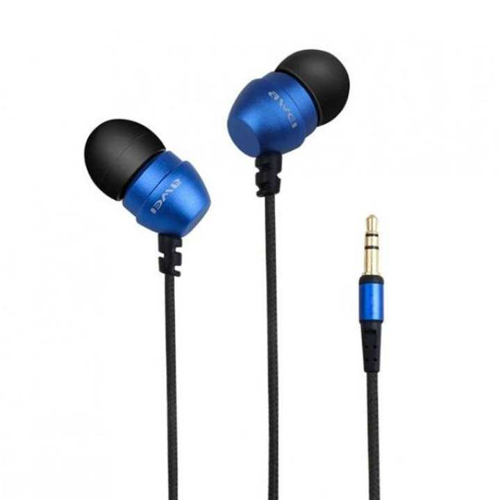 ES-Q2 Noise Isolating In-ear Headphones For Phones/ MP3/ MP4 Players - Black & Blue