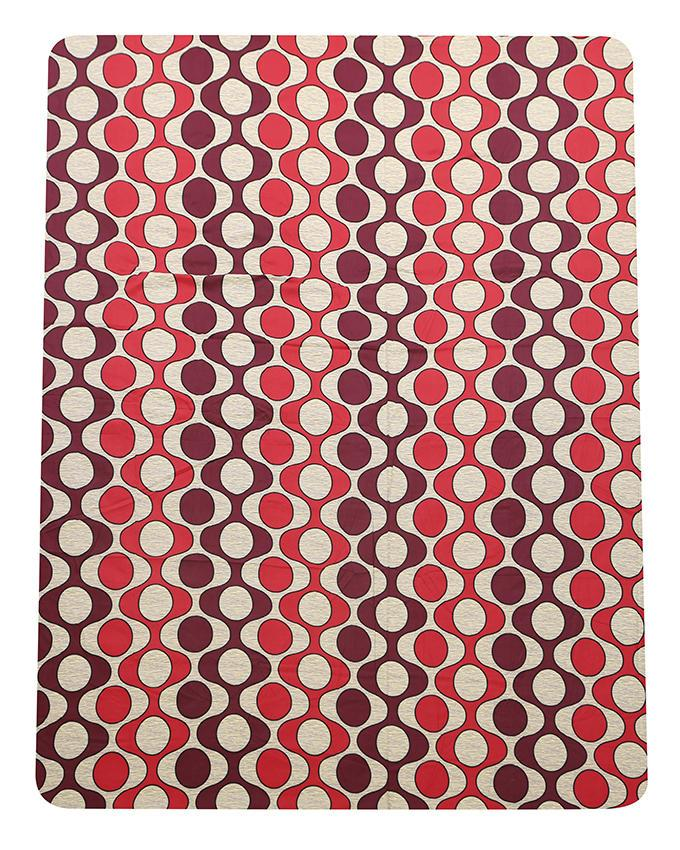 Cotton Printed Bed Sheet - Red