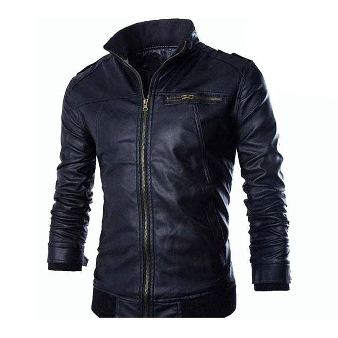Black Artificial Leather Jacket For Men Buy Sell Online Best