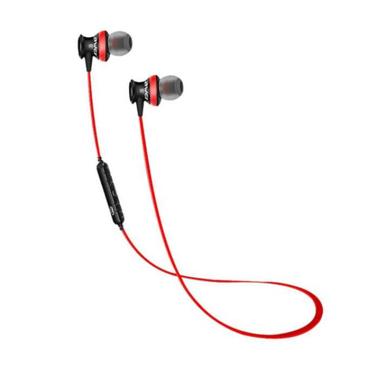 Wireless Bluetooth 4.0 Magnetic Sports Noise Isolation In-ear Headphone - A980BL - Red