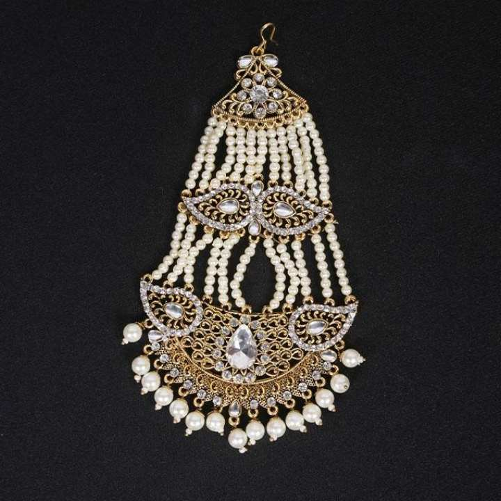 Golden Metal And Stone Japta For Women