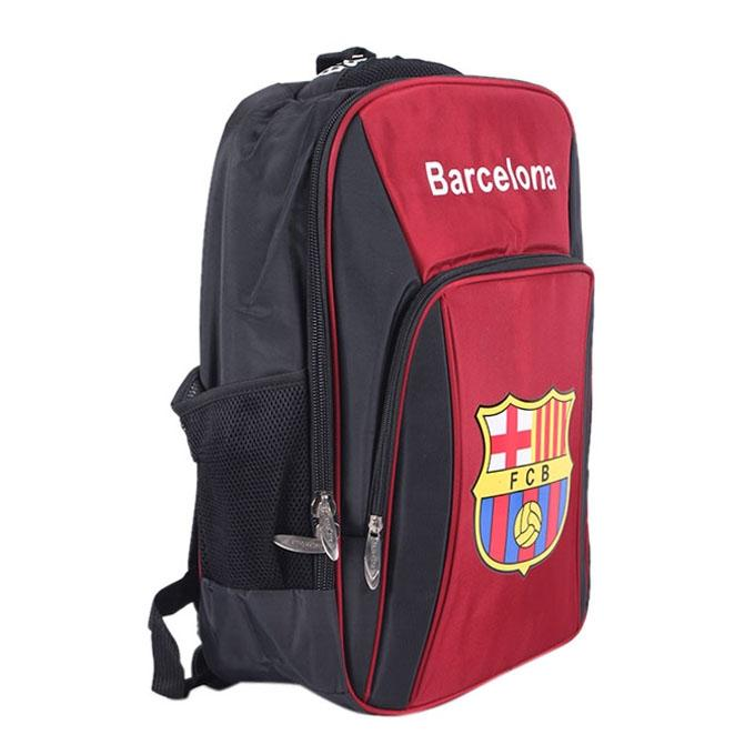 Polyester Backpack For Boys - Red and Black