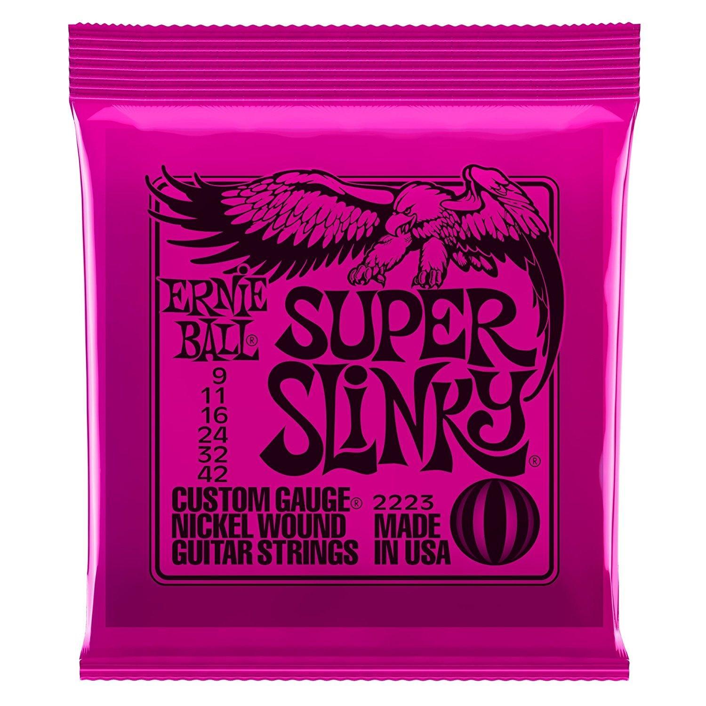 Ernie Ball 2223 Super Slinky Nickel Wound Electric Guitar Strings  - Silver